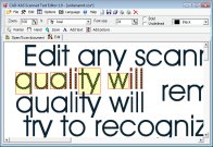 A screenshot of the program Scanned Text Editor 1.0 - without lose